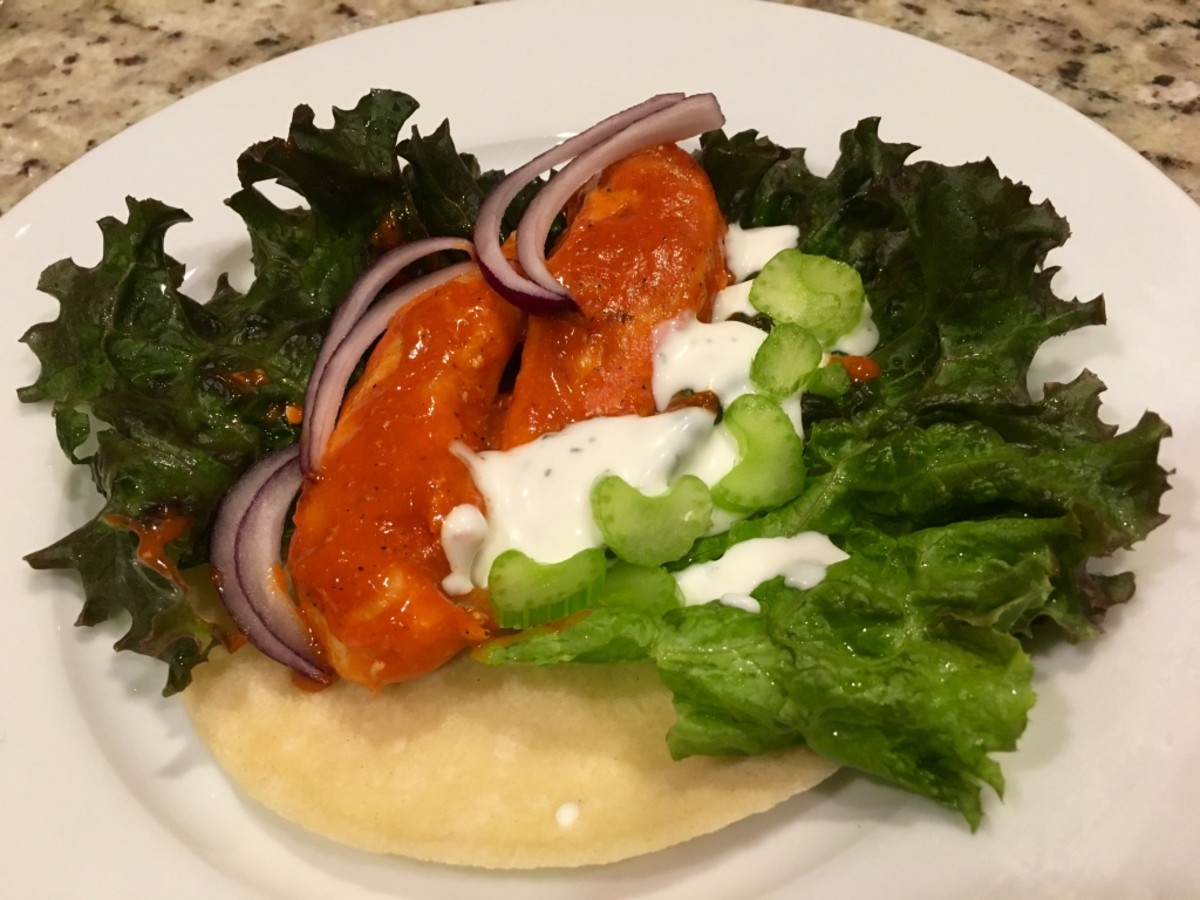 Skillet-Cooked Buffalo Chicken Wrap