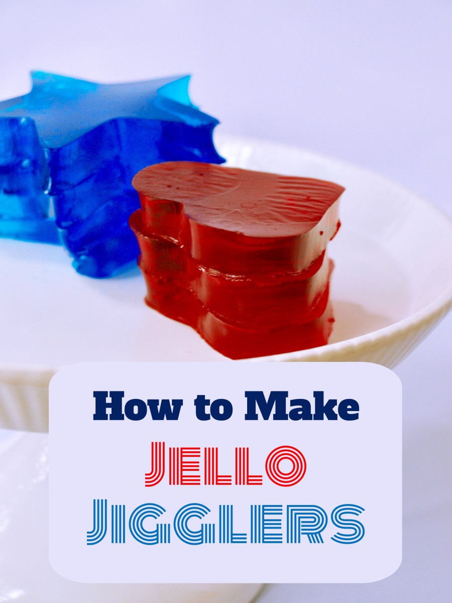 Step-by-step photos and instructions on how to make Jell-O jigglers.