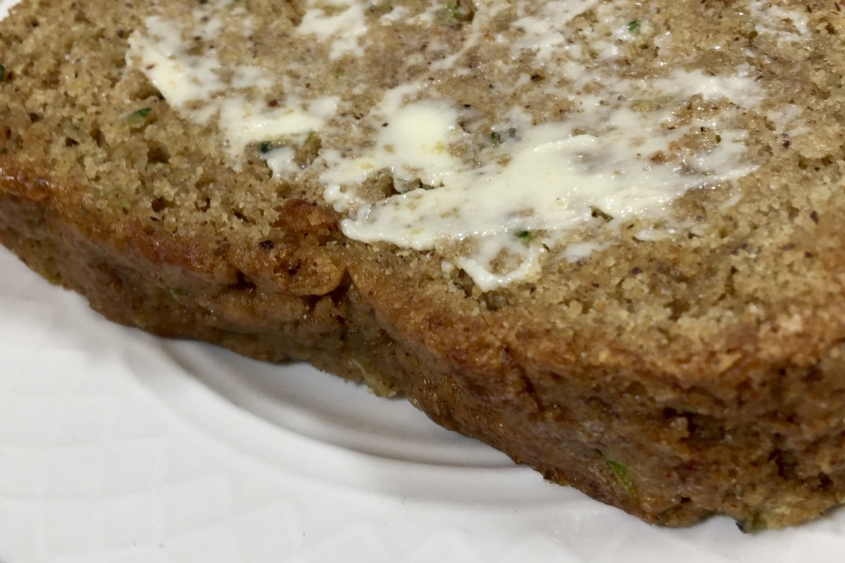 Vegan, Low-Sodium Zucchini Bread Made With Whole-Wheat or Gluten-Free Flour