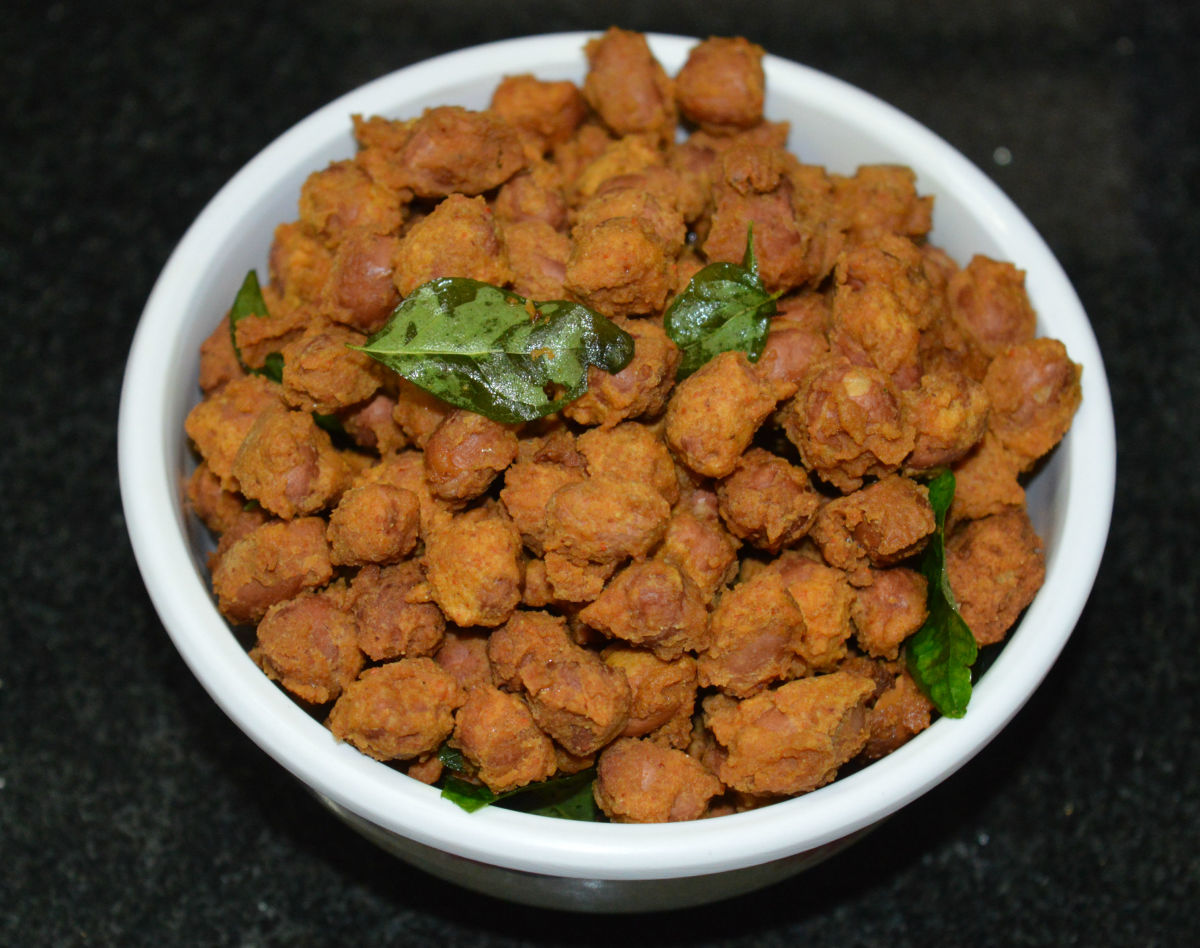 Spicy Masala Peanuts (Groundnuts) or Nelakadale Baje Recipe
