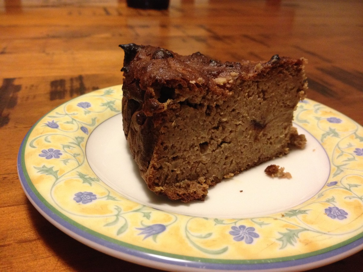 Paleo Banana Cake With Walnuts and Mesquite