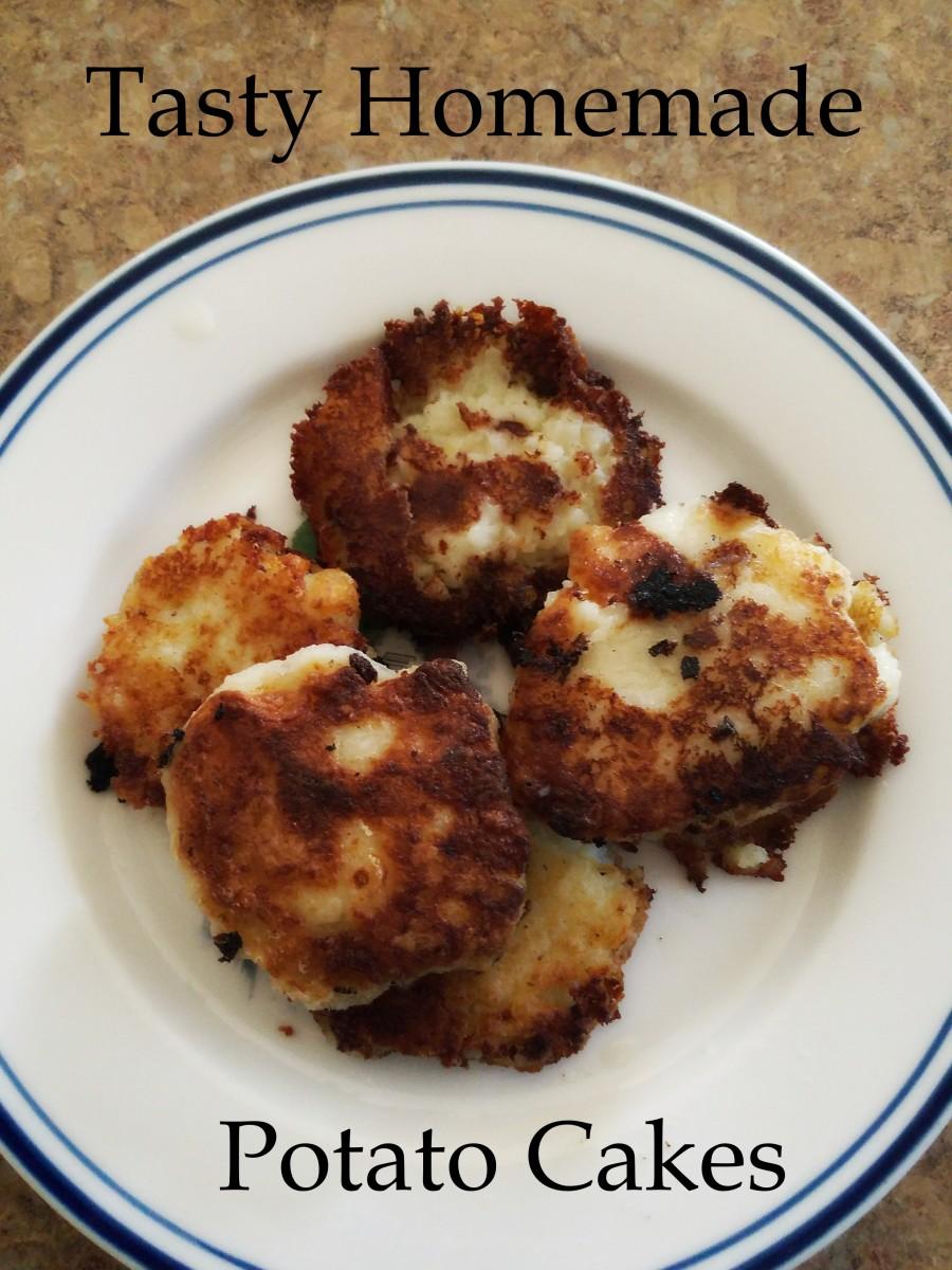 Tasty homemade potato cakes.