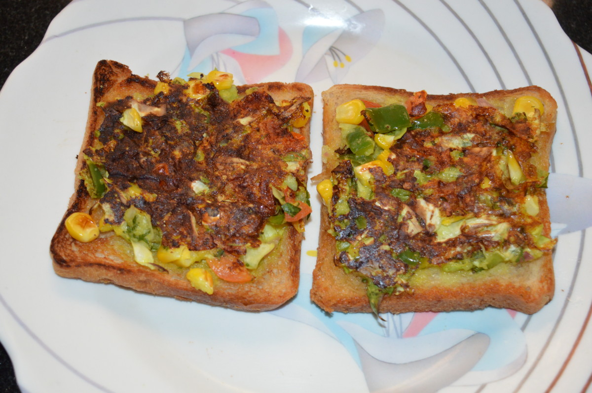 Open Bread Sandwich