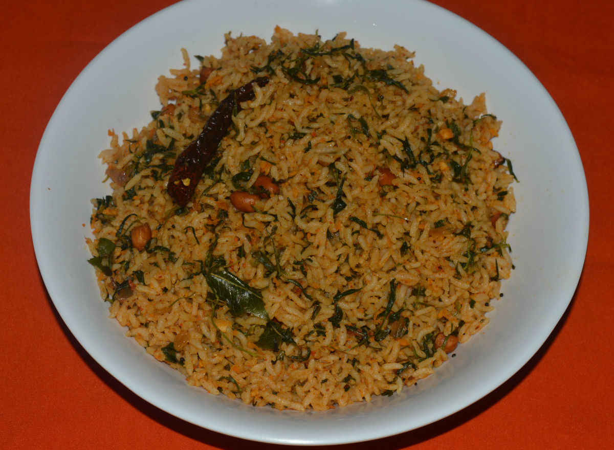 Fenugreek rice or methi rice