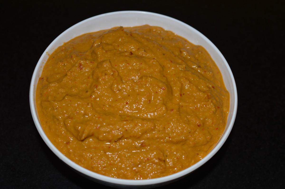 Ridge gourd peel chutney/sauce