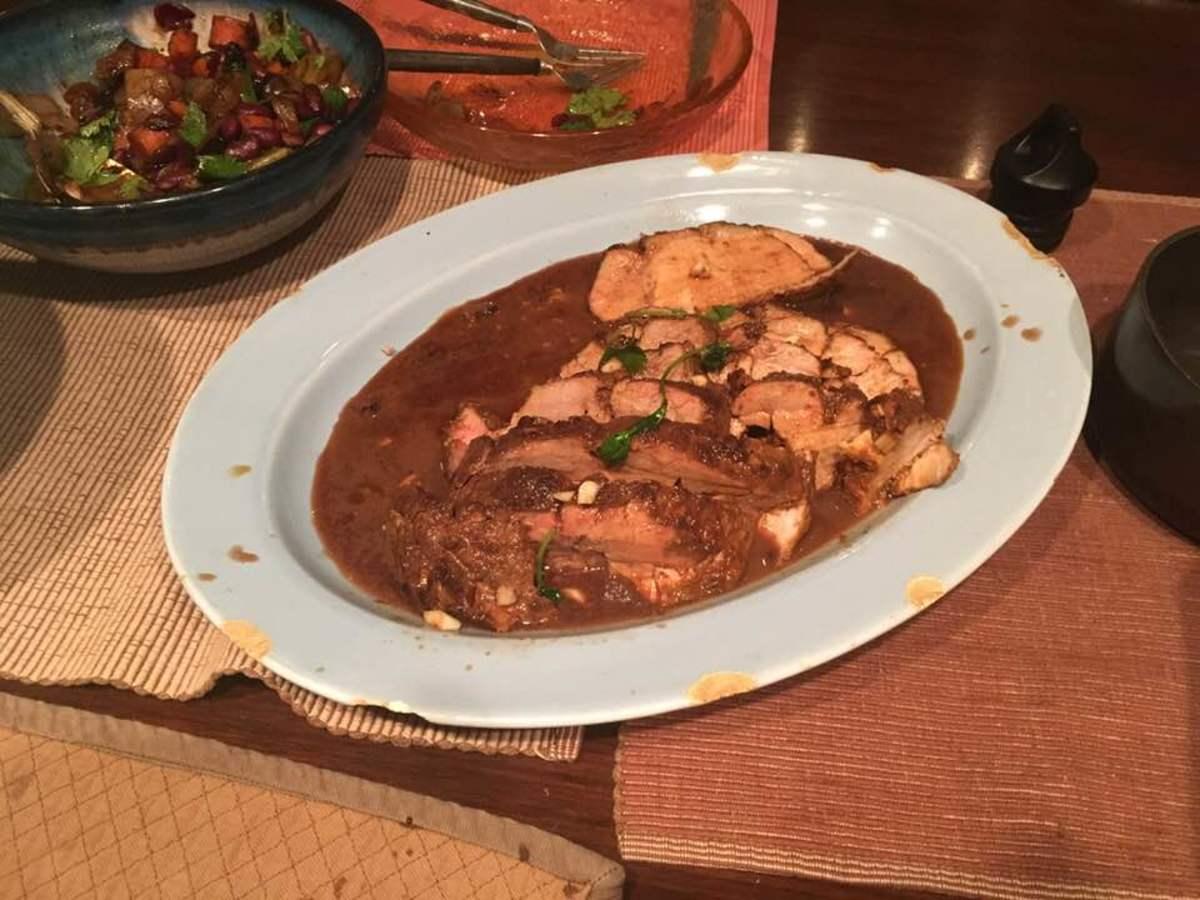 Georgian Paprika and Pomegranate Pork Roast Recipe