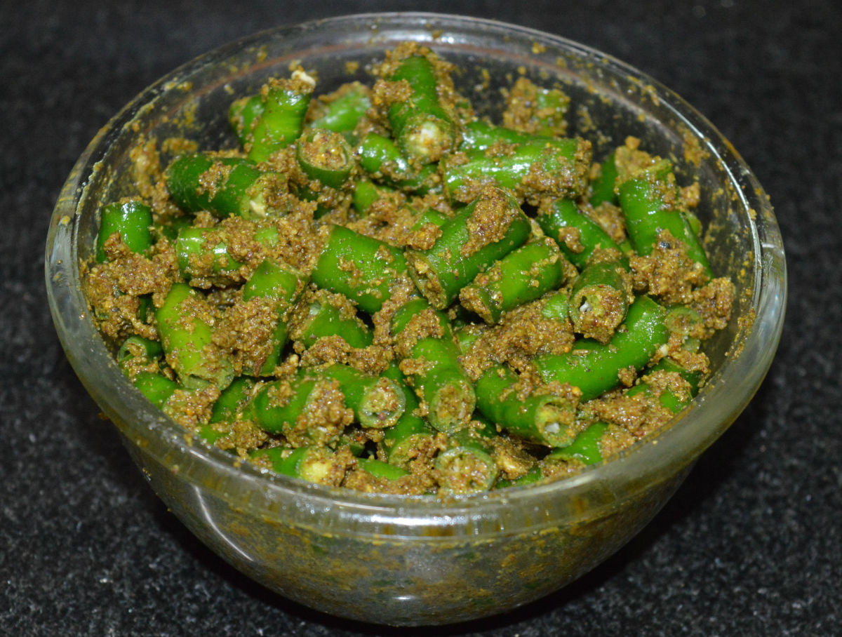 Instant Green Chili Pickles