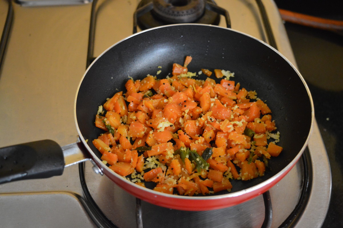 How to Make Carrot Stir-Fry or Carrot Palya