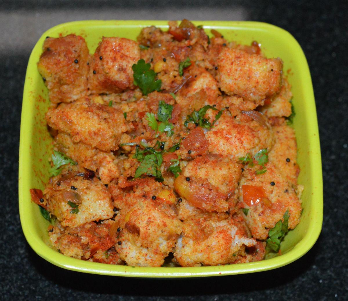 Spicy Tava Idli—Yum!