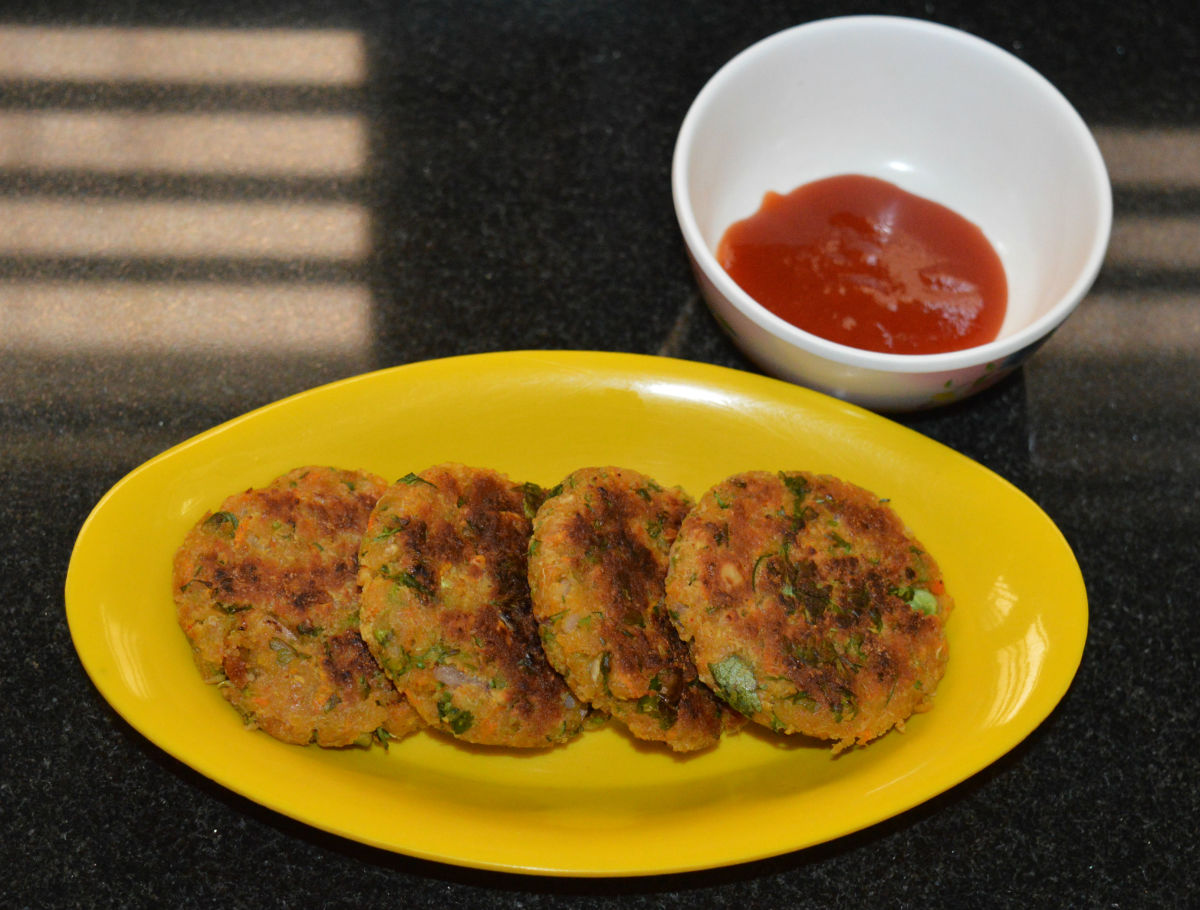 Spiced Chickpea Vegetable Cutlets (Patties)