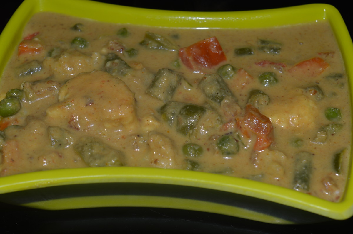 Mixed-vegetable curry.