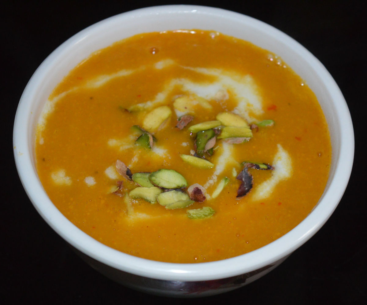 Carrot, Potato, and Fresh Corn Soup