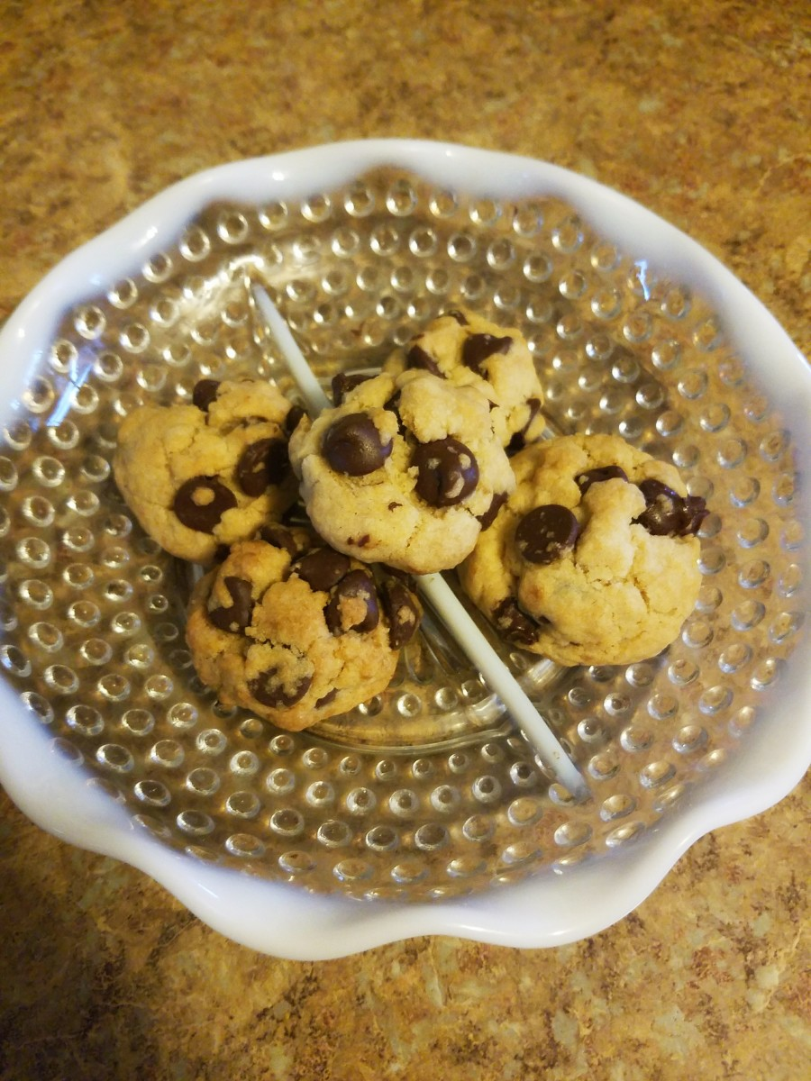 Deliciously simple, egg-free chocolate chip cookies.