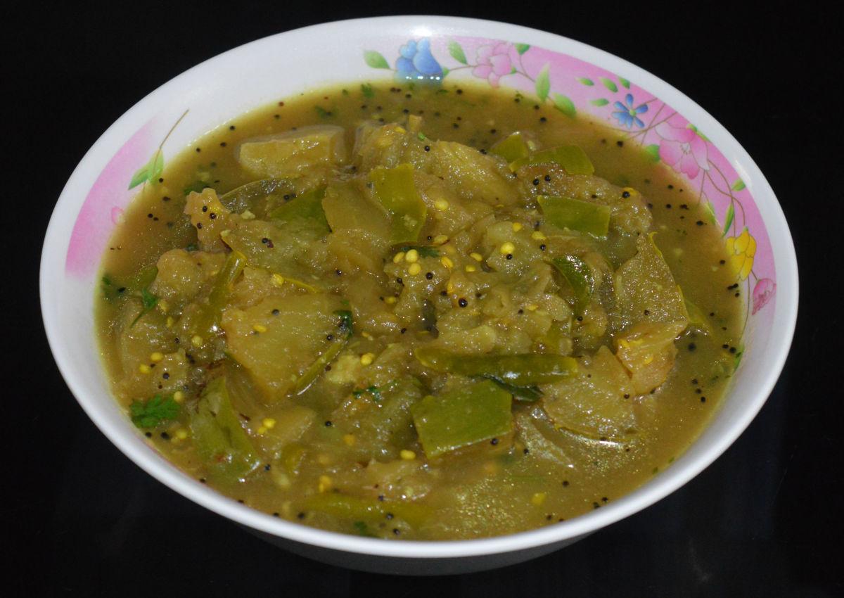 Indian Curry Recipe: Brinjal Sambar (Eggplant Sambar)