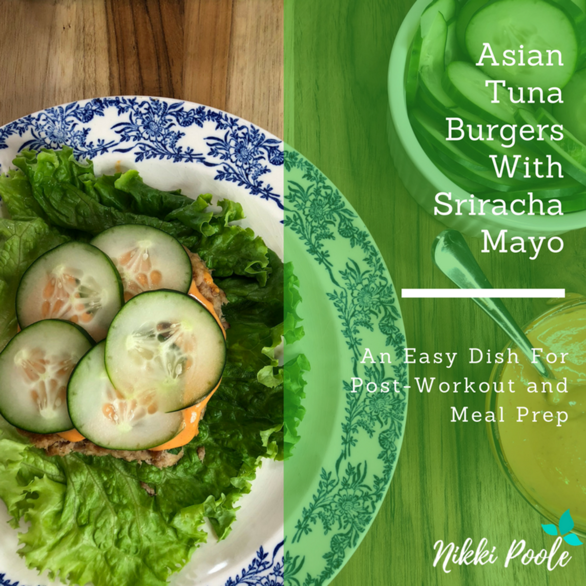 Low-Carb Asian Tuna Burgers With Sriracha Mayo