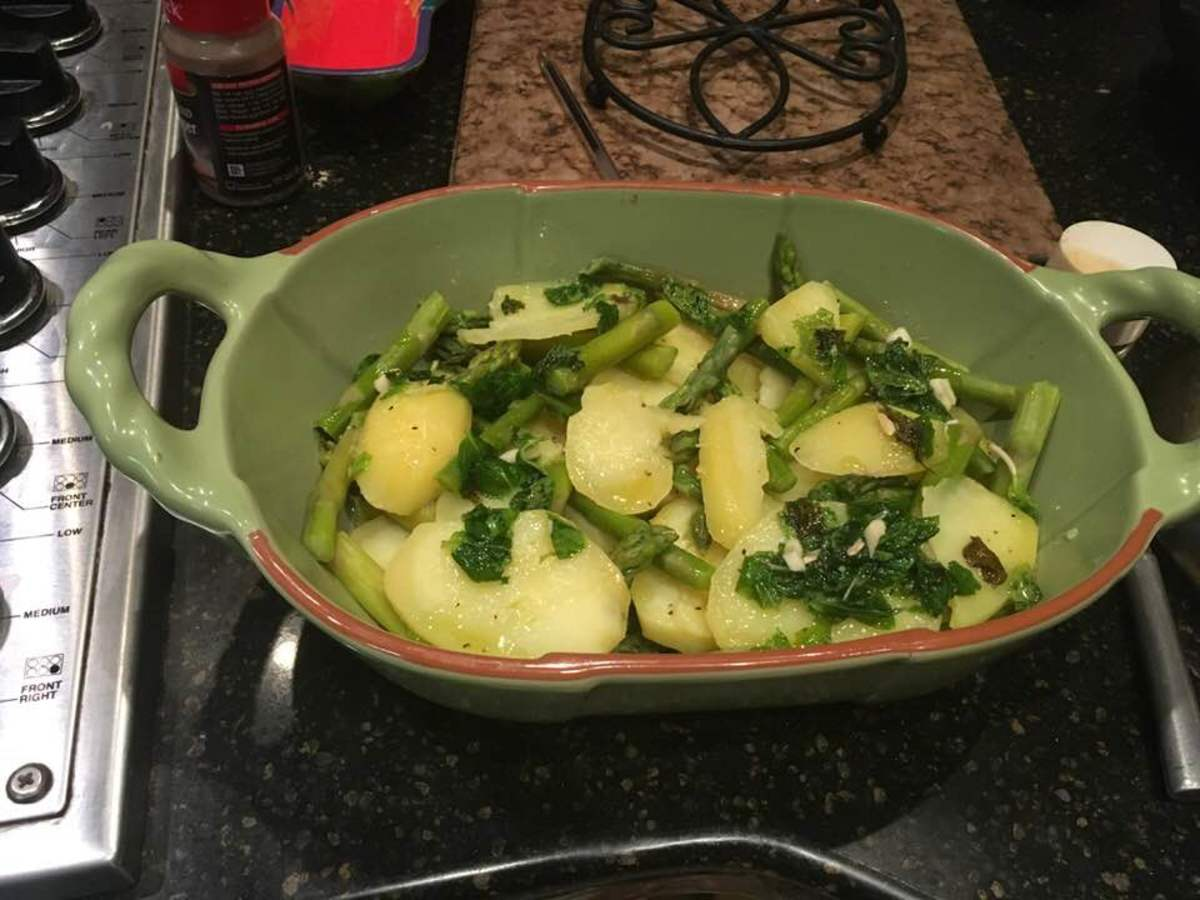 Potatoes and Asparagus in a Lemon-Mint Sauce Recipe