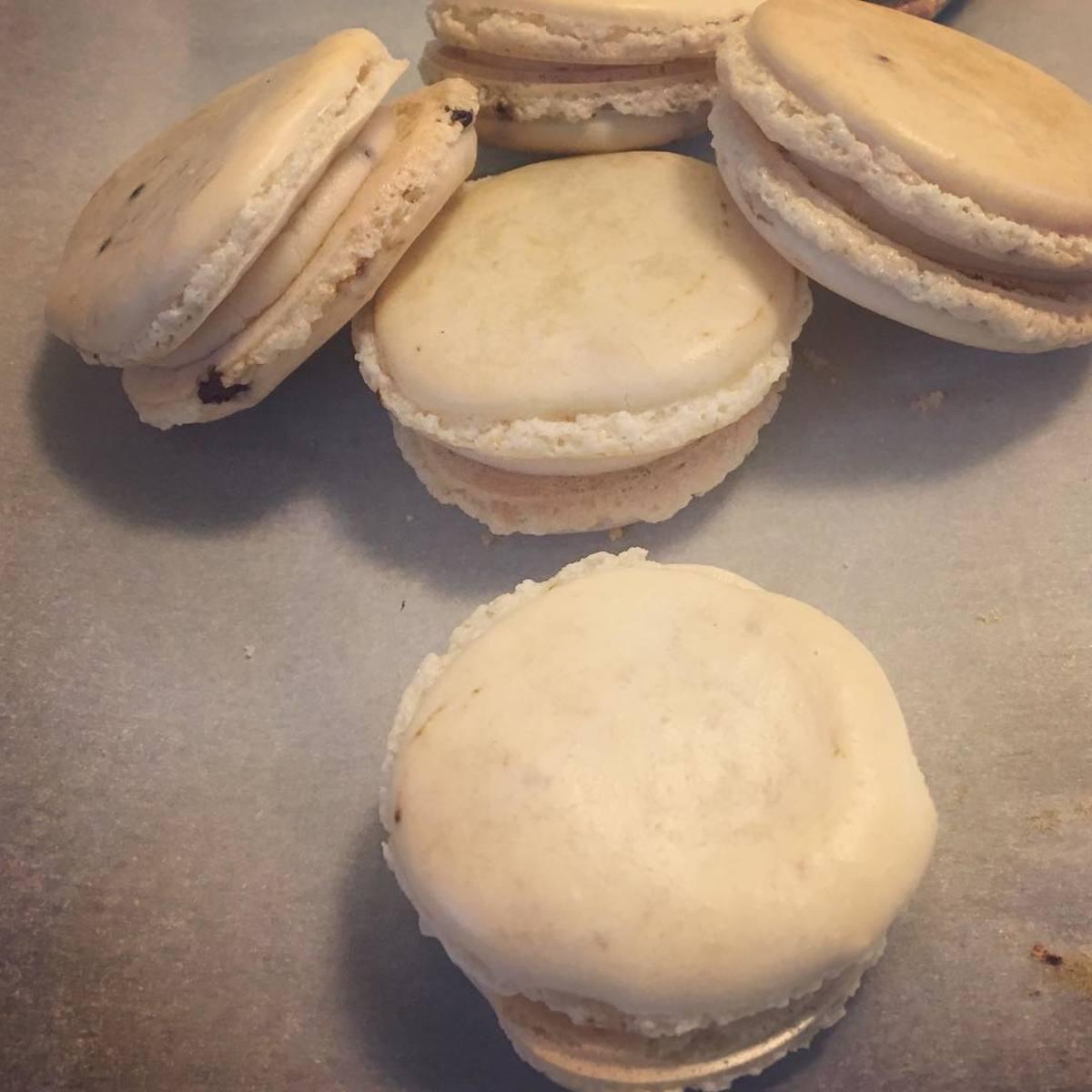 The best ones I've made so far, espresso macarons!