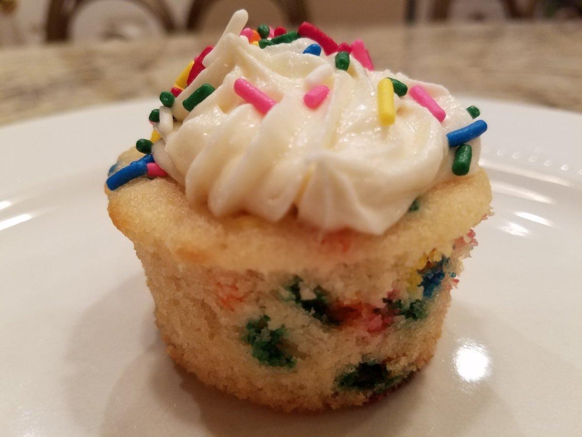 "Vanilla Cake ""Funfetti"" Style (Sprinkles Baked In)"
