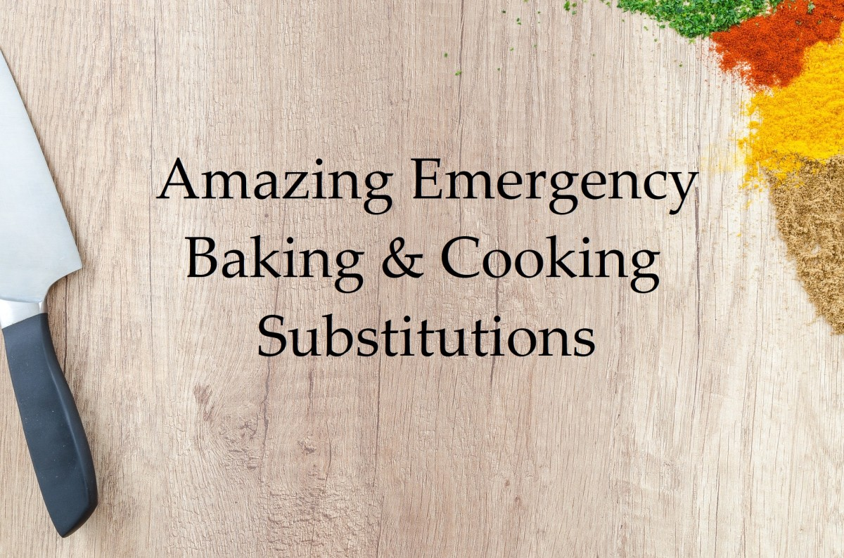 Amazing Emergency Baking & Cooking Substitutions
