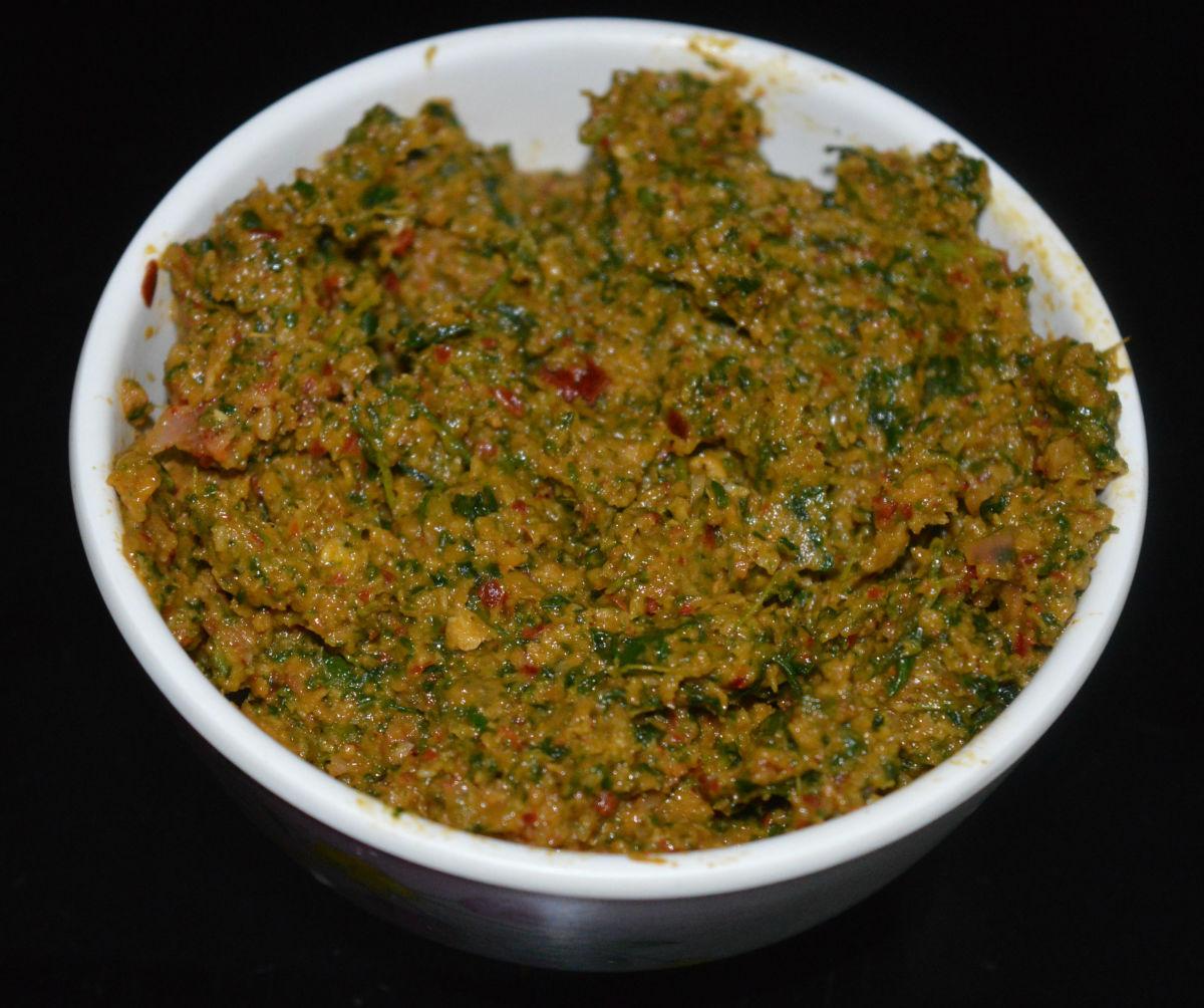 Fenugreek Leaf Chutney (Methi Chutney)