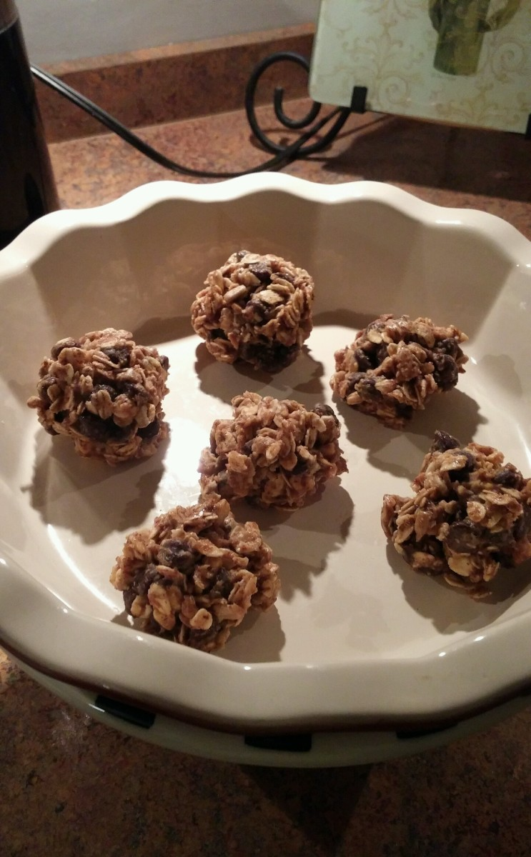 Chocolate peanut butter balls are a delicious way to put some extra pep in your step.