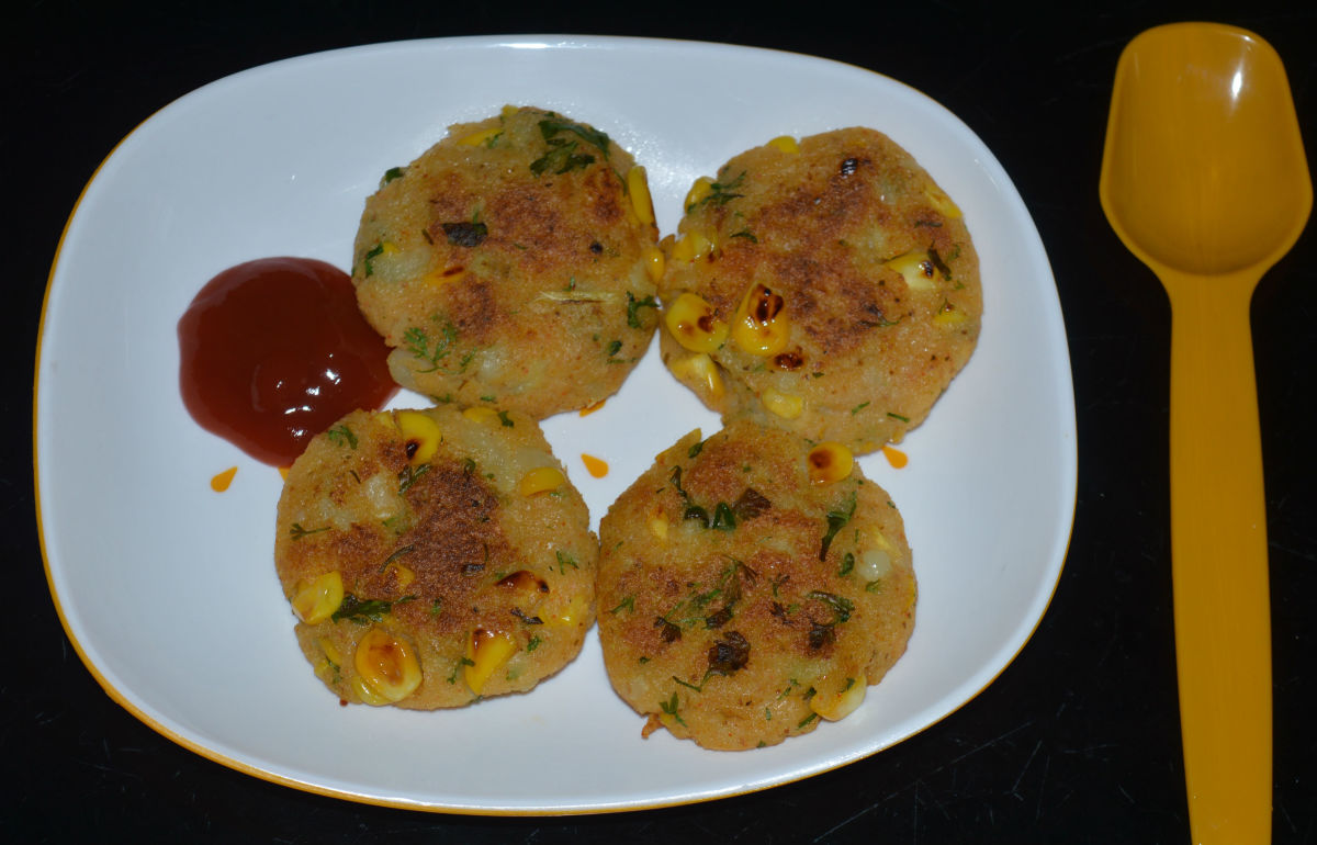 Sweet Corn Potato Cutlets/Corn Patties