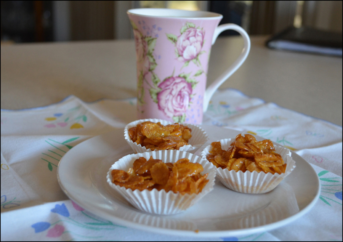How to Make Honey Joys Biscuits/Cookies With Gluten-Free Cornflakes