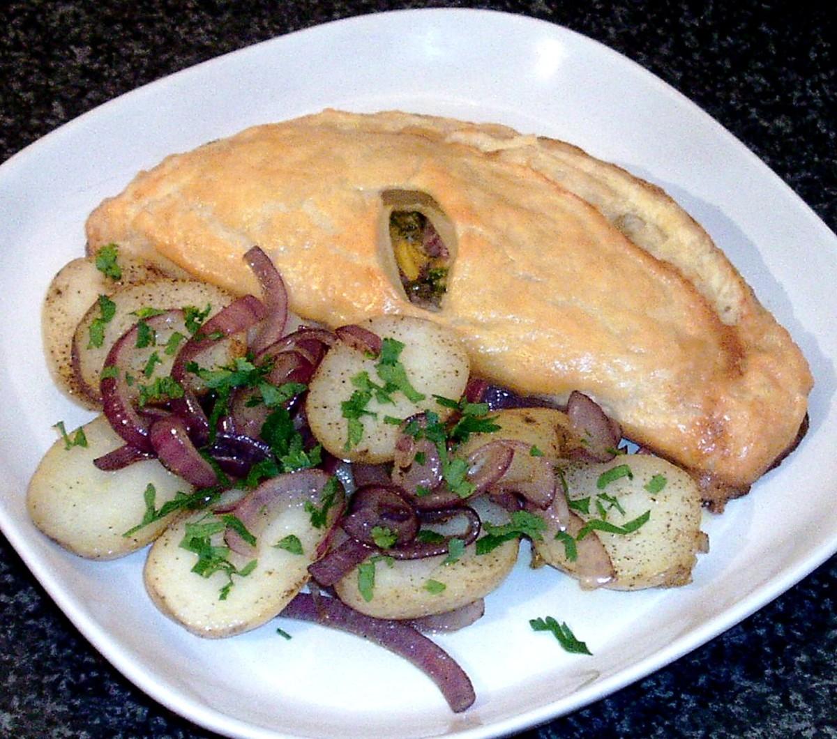 Sea Bass and Mango Salsa En Croute Recipe