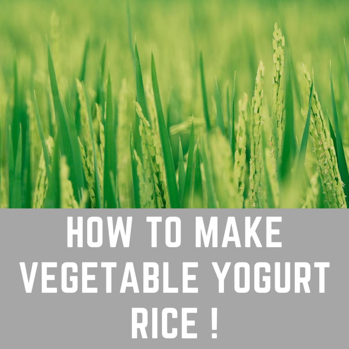 How to Make Vegetable Yogurt Rice (Vegetable Tahari)