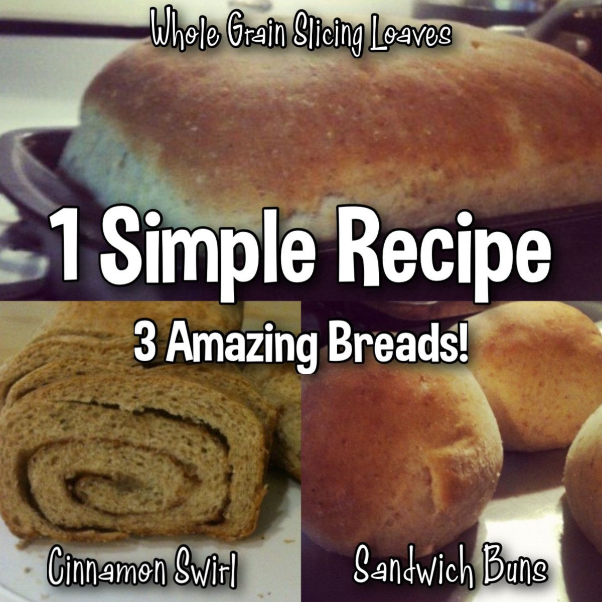 Make 3 Different Breads With 1 Easy Recipe!