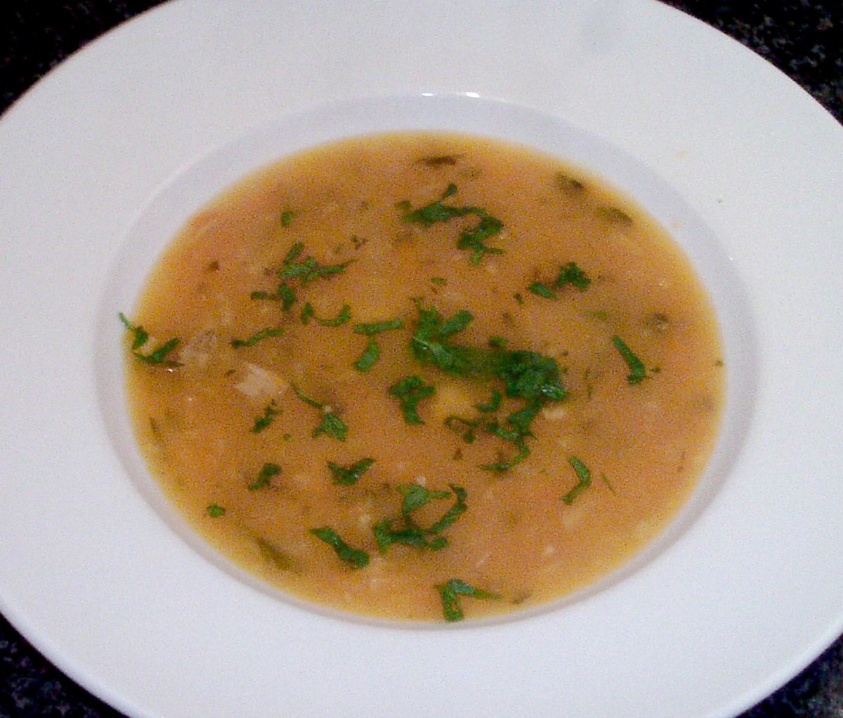 Pheasant breast wild game soup