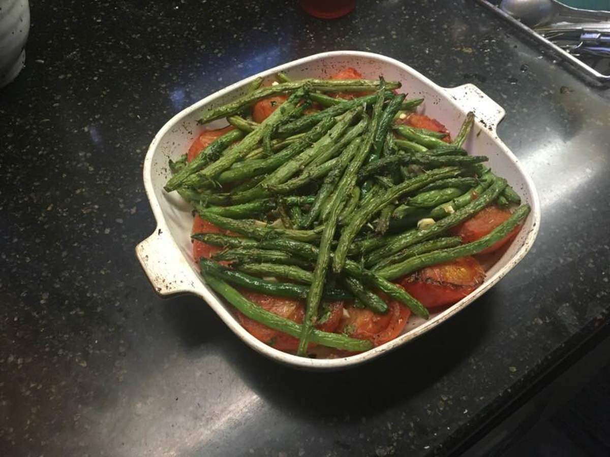 Sautéed and Roasted Tomatoes and Green Beans Recipe