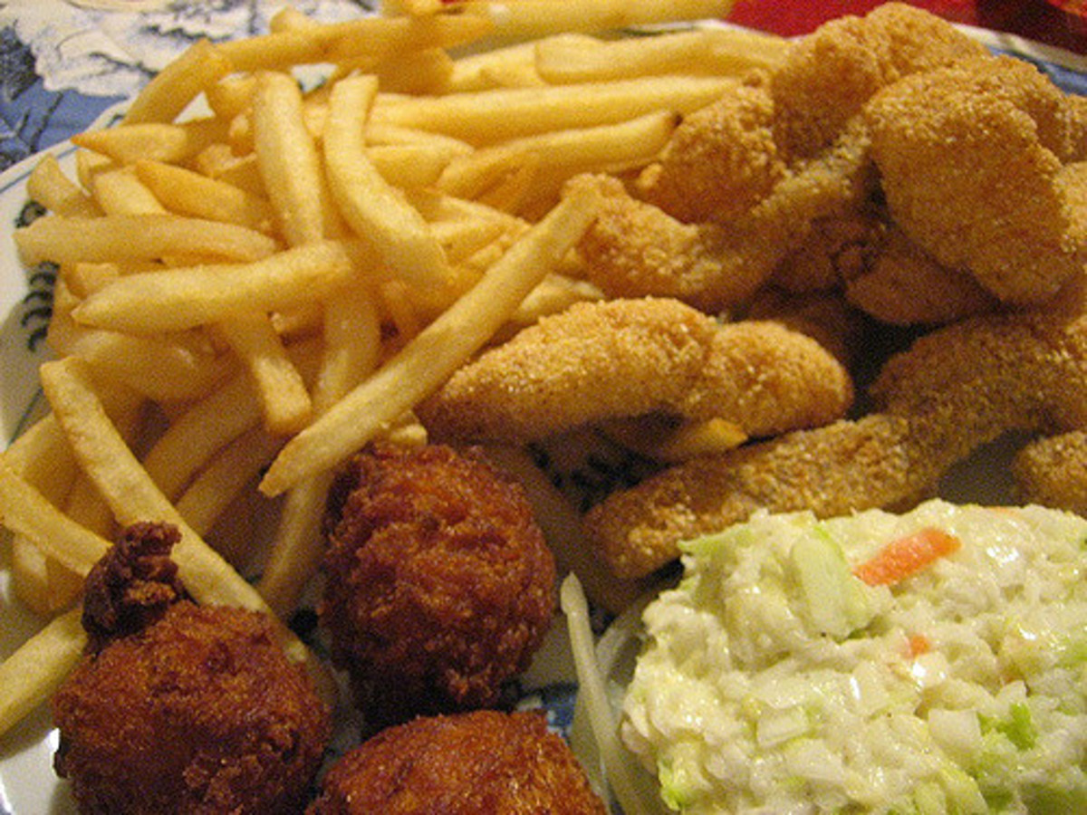 Fried catfish.