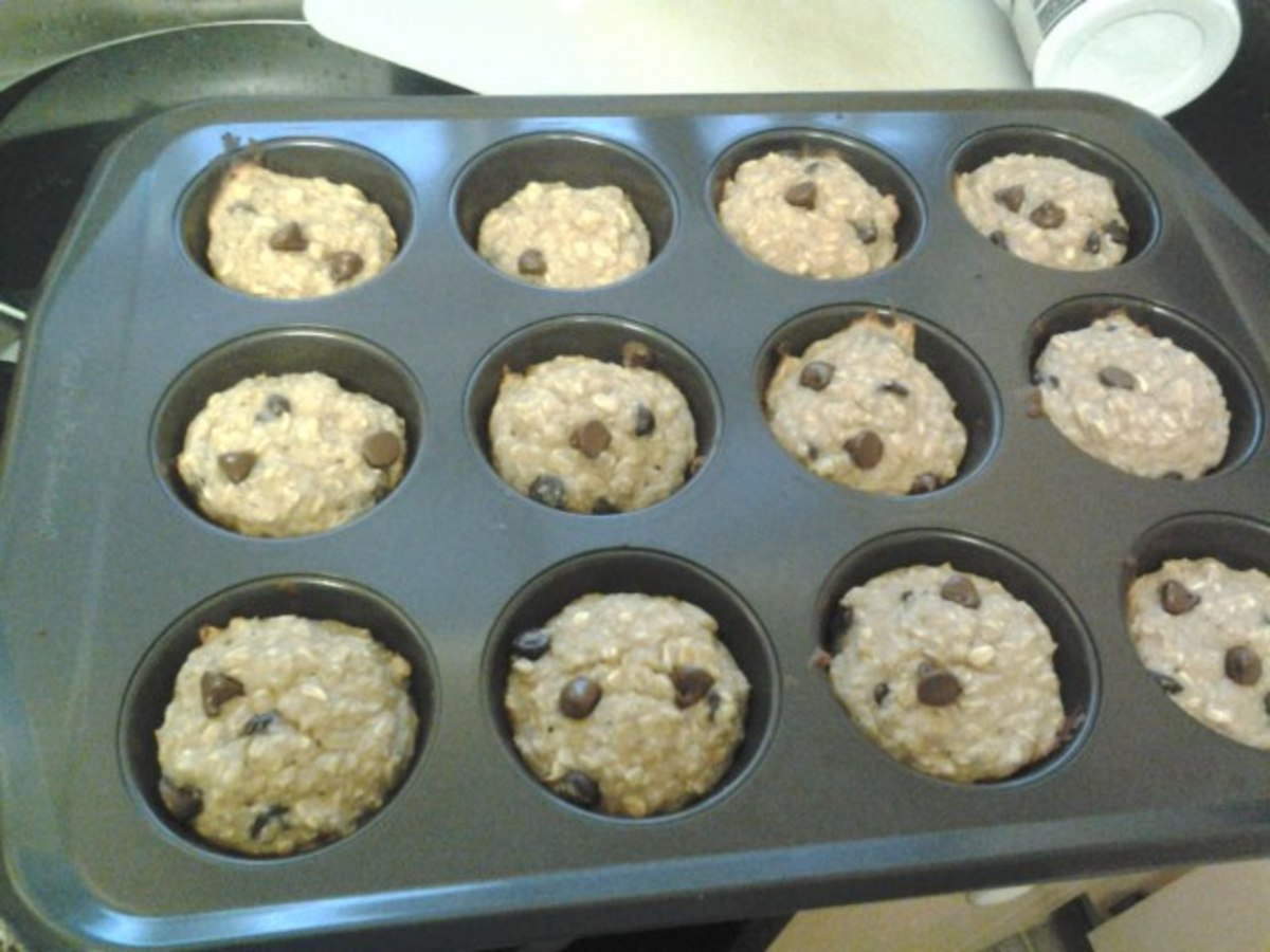 These oatmeal muffins are flour-free!
