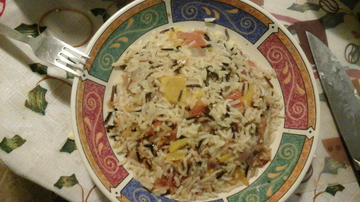 I used 1/4 cup wild rice and 3/4 cup white rice to give the dish a restaurant-style look.