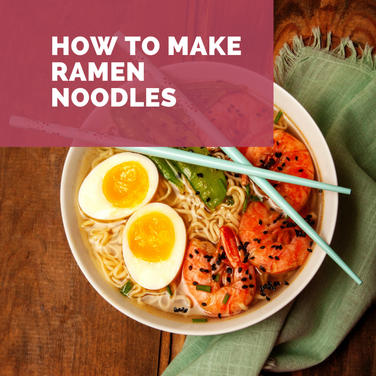 Make ramen at home and impressive your family with a delicious meal.