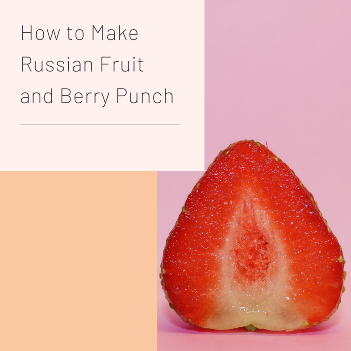 Making Russian fruit punch is a great way to salvage bruised fruit.