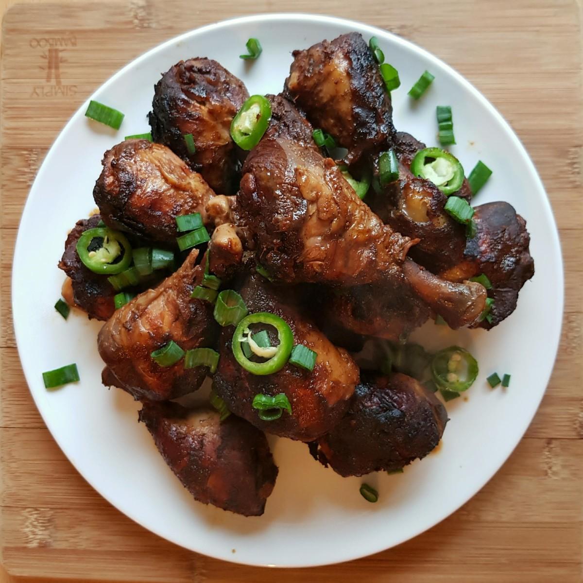 Easy slow cooker jerk chicken drumsticks