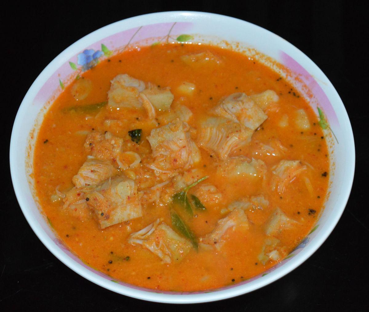 How to Make Tender Jackfruit Sambar or Jackfruit Curry