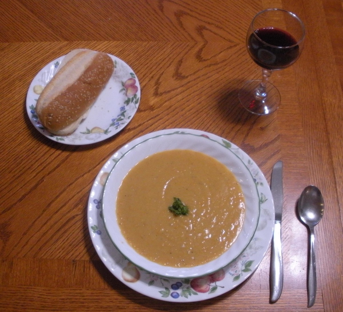 Delicious homestyle yellow split-pea soup