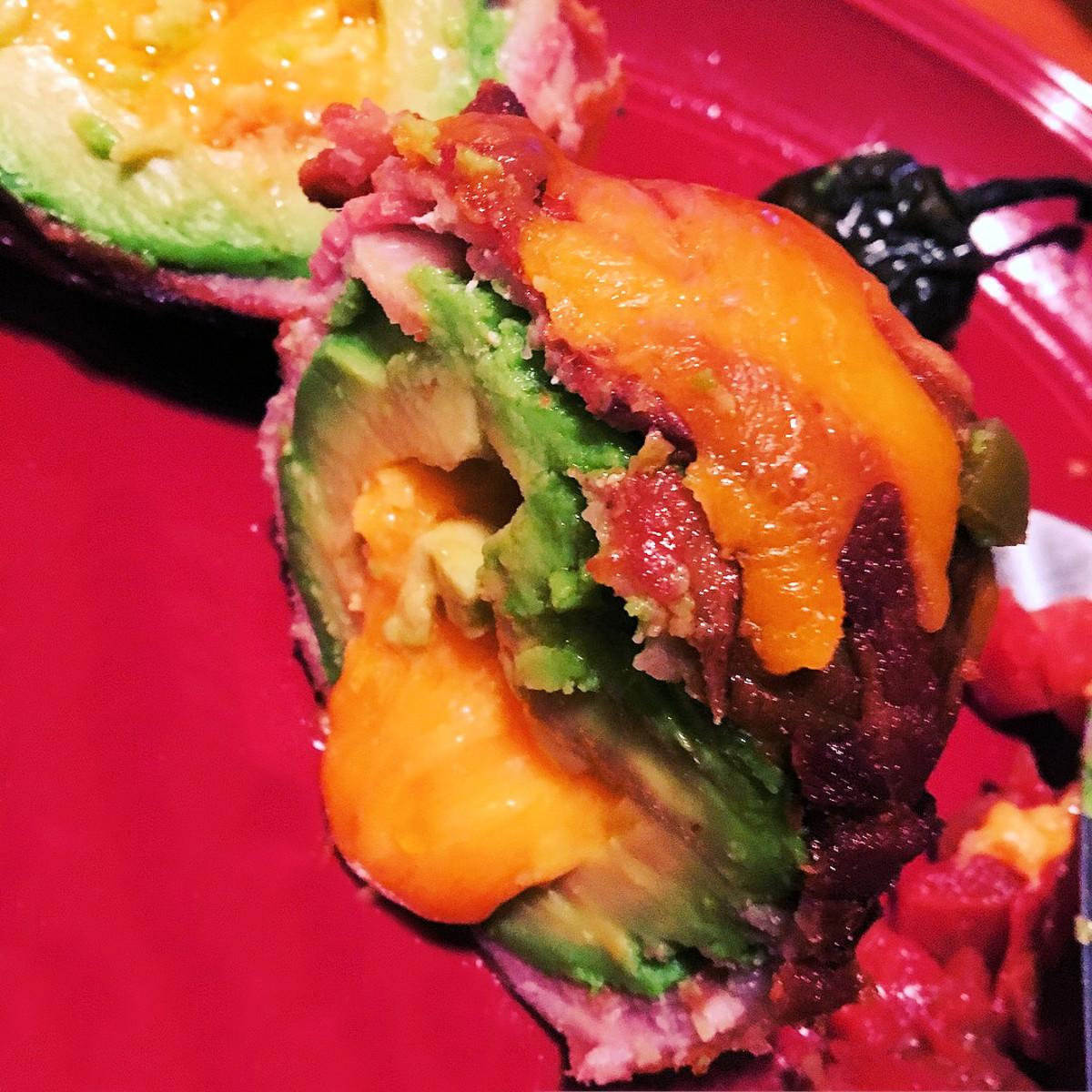 Bacon-Wrapped, Stuffed Avocado