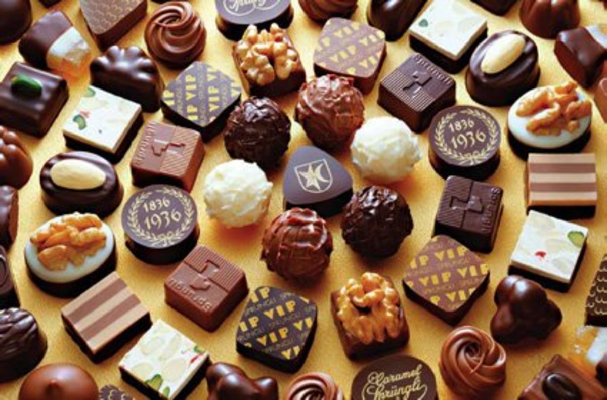 Selection of Lindt chocolate truffles