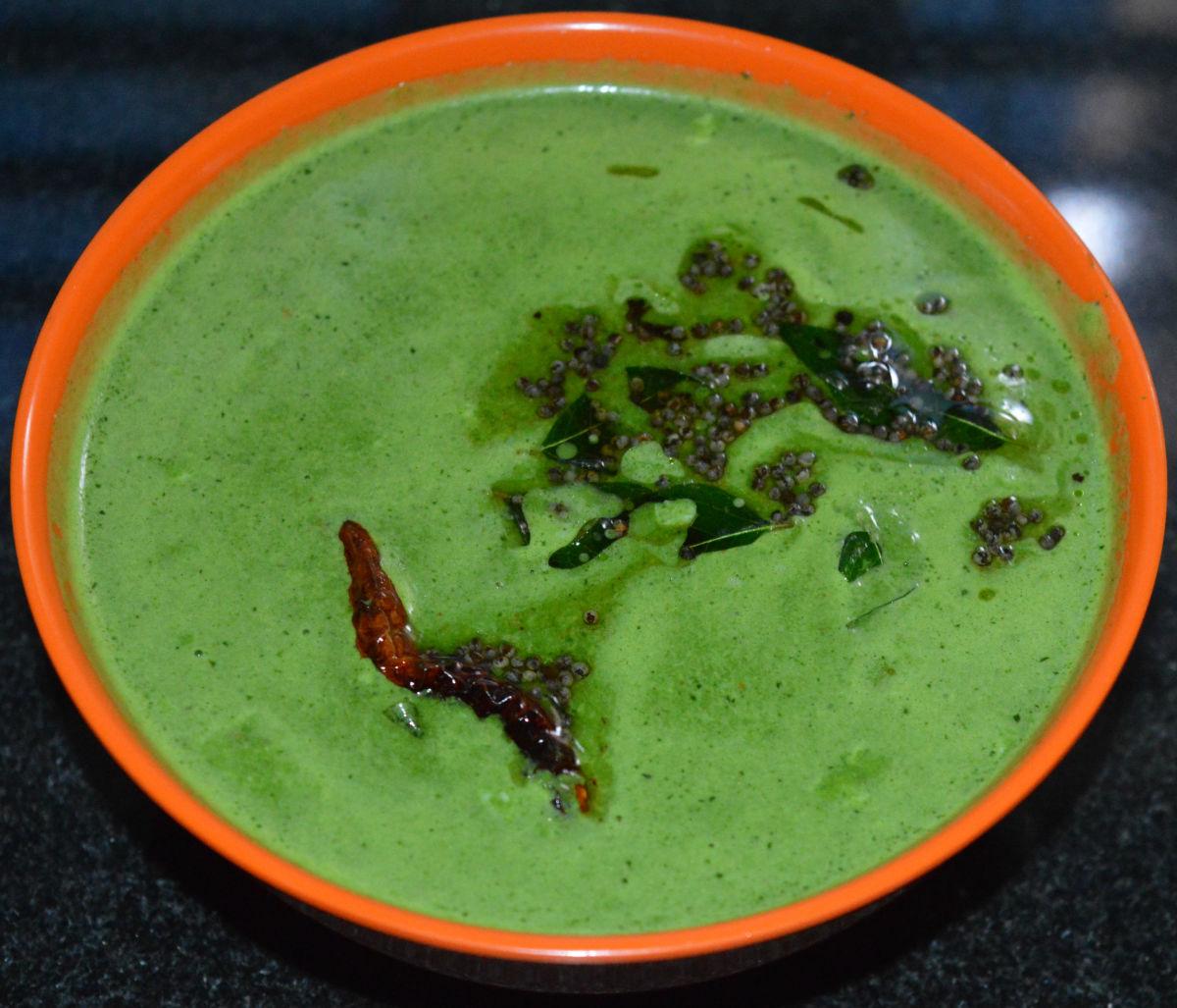 Leafy Vegetable Tambli (Leafy Greens Drink)