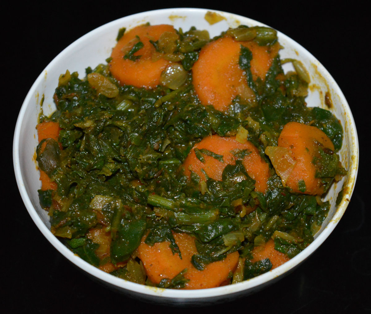 Spinach and Carrot Curry Recipe