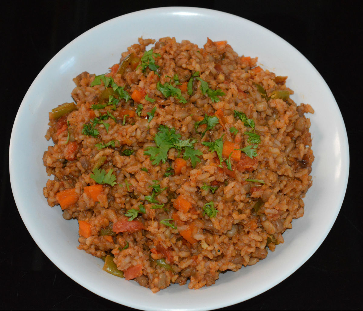 Mexican Brown Rice With Brown Beans