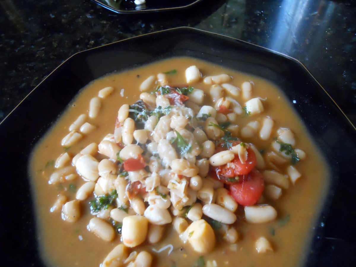 Cannellini Beans With Seafood