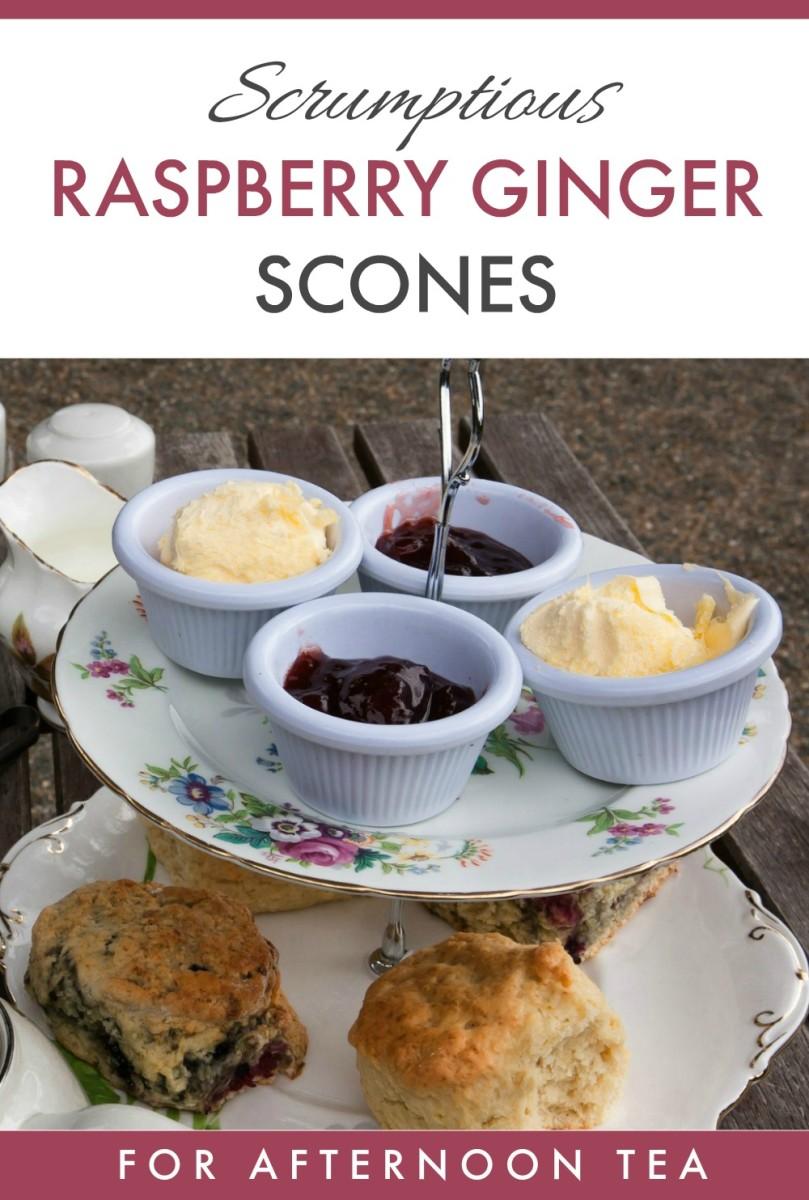 Fresh Raspberry Ginger Scones Recipe