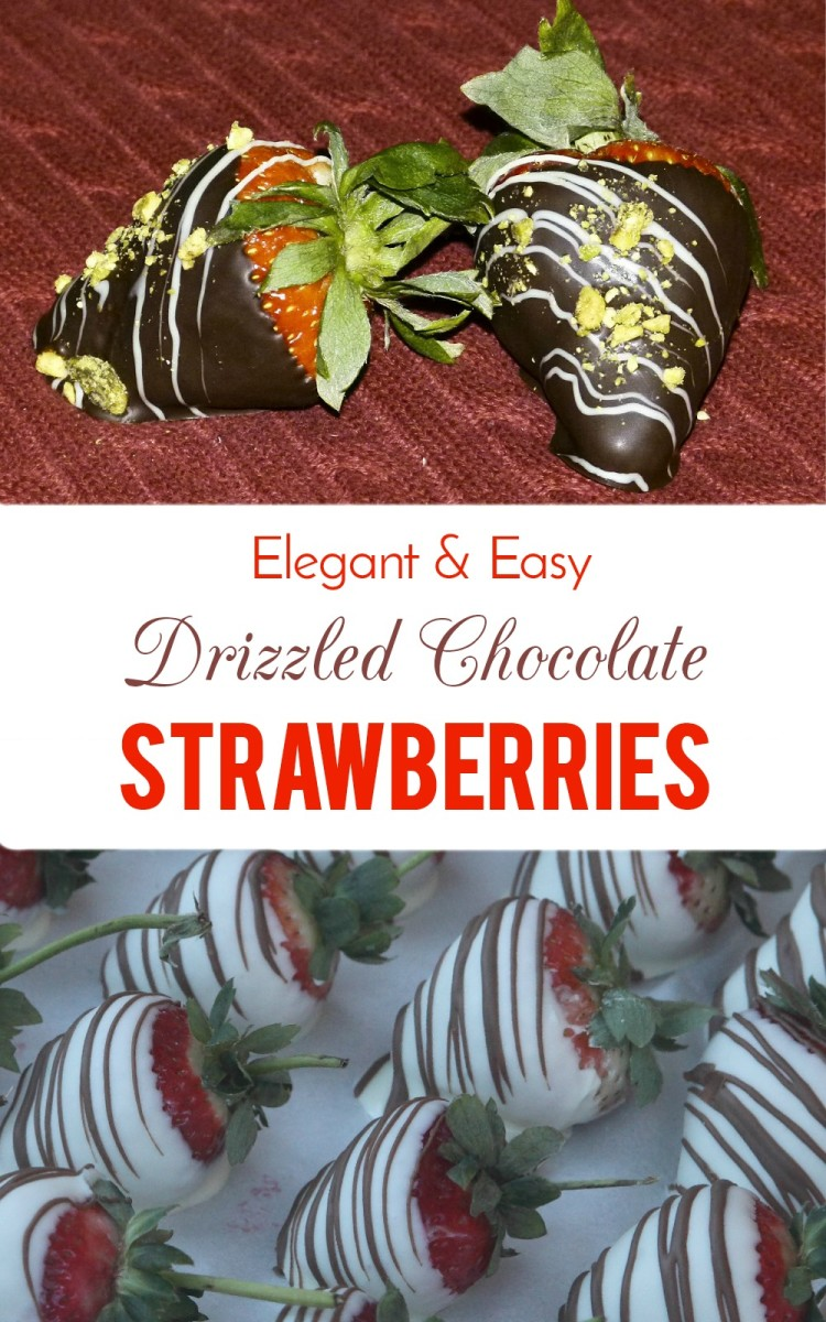 Chocolate-Covered Strawberries With an Elegant Drizzle Decoration
