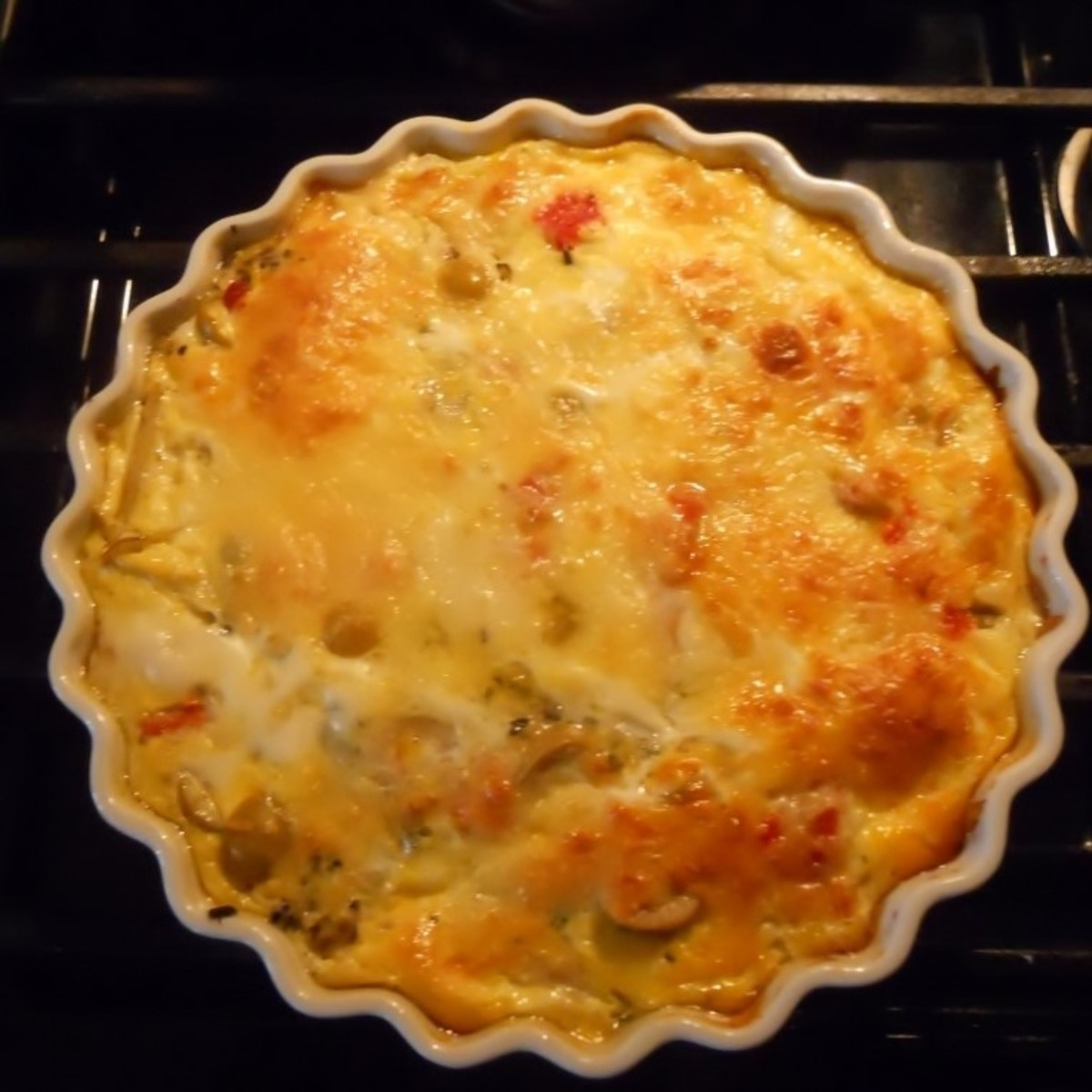 Aunt Dolly's Savory Everything Quiche