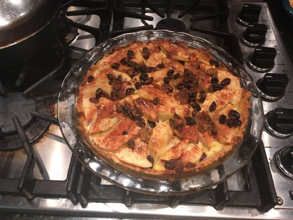 French Golden Cream Apple Pie Recipe